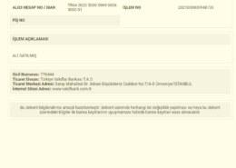 05 Mart 2021 tarihinde VakıfBank hesabımdan 1000 er lira toplamda …