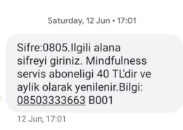 12 Haziran 2021 tarihinde Türk Telekom faturama 40 TL Mindfulness …